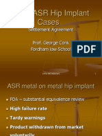 The DePuy Orthopaedics ASR Product Liability Settlement
