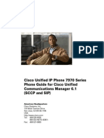 Cisco Unified IP Phone 7970 Series Phone Guide and Quick Reference for Cisco Unified Communications Manager 6.1 v1