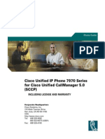 Cisco Unified IP Phone Guide 7970 Series (7970G, 7971G-GE) for Cisco Unified CallManager 5.0