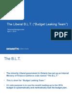 Backgrounder on Budget Rolloout Calendar 2014-04-01