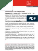 Finmeccanica wins a USD 1.2 billion contract for the Lima Metro