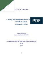 ADAG - Amalgamation & Demerger Trends in India