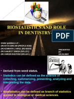 Biostatistics and Role in Dentistry