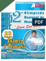 II   EXAMEN 1ºPRIMARIA A-1