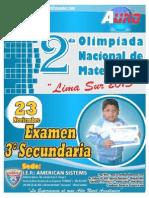 II EXAMEN 3ºSECUNDARIA-1-LIMA