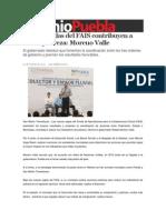 31-03-2014 Sexenio Puebla - Nuevas reglas del FAIS contribuyen a abatir pobreza, Moreno Valle.
