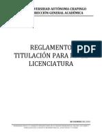 REGLAMENTO DE TITLACIÓN