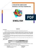 Competencies in English