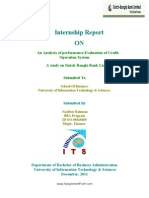 An Analysis of Performance Evaluation of Credit Operation System (Prat - 1)