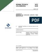 NTC 4048 Concretos. Morteros de Inyección (Grouts) Para Mampostería