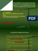 Procedimiento en Segunda Instancia Que Se Sigue en Los Recursos de Nulidad Contra Los Actos Administrativos de Efectos Generales y Particulares