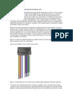 Identificando los colores del arnés de tu radio de carro