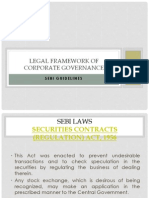 Legal Framework of Corporate Governance