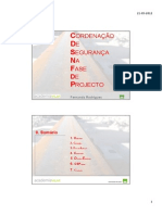 Coordenacao Fase Projeto FRodrigues 2012