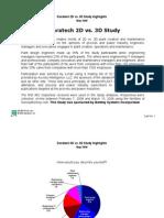 Daratech 2d vs 3d Study Summary