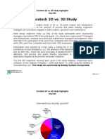 Daratech 2d vs 3d Study Summary