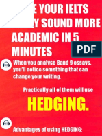 Make Your IELTS Essay Sound More Academic With HEDGING