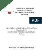 Revision a Cargo de Albacea Testamentario