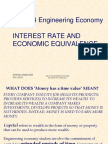 Mm 314 Engineering Economy--- 2. Interest Rate and Economic Equivalence