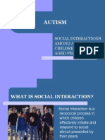 Social Interactions Among Autistic Children and Sameaged Peers