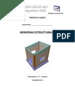 Memorias Estructurales Caseta Ramon