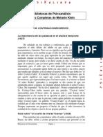 Psicoanalisis - Contribuciones Breves