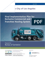 City of Los Angeles plan to franchise pickup of multifamily and commercial trash