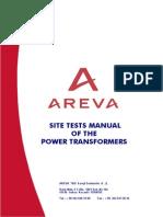 AREVA Site Tests Manual