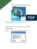 Activar Windows 7 Con Windows Loader