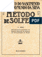 Metodo de solfejo - (Frederico do Nascimento & Jose Raymundo da Silva) - 1ºAno