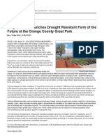 Alegria Fresh Launches Drought Resistant Farm of the Future at the Orange County Great Park