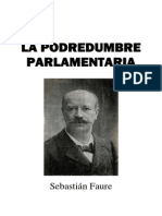 La podredumbre parlamentaria, de Sebastían Faure