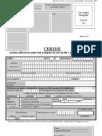 Anexa 12 Cerere Pasaport Pierdut