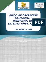 Inicio de Operación Comercial y Beneficios del Satélite Tupac Katari [Rebaja de Tarifas]