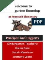 welcome to kindergarten roundup
