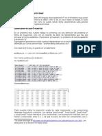 Estadística y programación lineal
