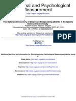 Reliability of BIDR