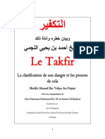 Le Takfir Et La Clarification de Son Danger Et Les Preuves de Cela