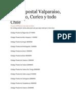 Codigo Postal Ciudades Chile