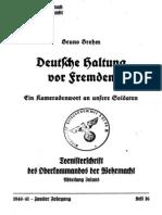 Brehm, Bruno - Deutsche Haltung vor Fremden - Ein Kameradenwort an unsere Soldaten (1941)