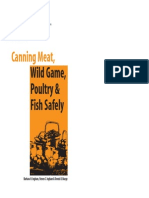 Canning Meat, Wild Game, Poultry, & Fish Safely