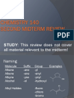 Organic Chemistry Second Midterm Review Winter 2014