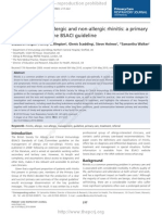 Management of Allergic and Non-Allergic Rhinitis- A Primary Care Summary of the BSACI Guideline
