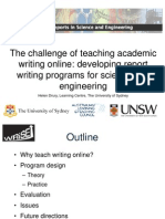 The Challenge of Teaching Academic Writing on Line