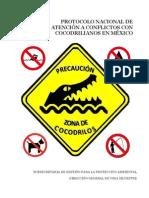 Protocolo Atencion a Cocodrilos Mexico