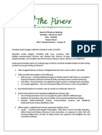 PCPNA Board of Directors Meeting Minutes 3/10
