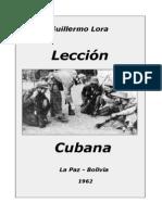 Lección cubana