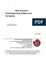 Municipal Best Practices - Preventing Fraud, Bribery and Corruption FINAL