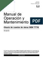 Camion de Obras Cat 777G (Manual de Operación y Mantenimiento)