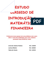 ED MATEMÁTICA FINANCEIRA